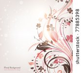 hand drawn floral background... | Shutterstock .eps vector #77885398