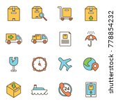 simple icons related to... | Shutterstock .eps vector #778854232