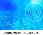 digital network background blue | Shutterstock .eps vector #778856815