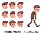 emotions pleased happy...   Shutterstock .eps vector #778859602
