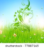 summer vector grass wallpaper... | Shutterstock .eps vector #77887165