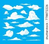cartoon clouds set on blue sky...