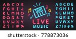 live music piano symbol icon... | Shutterstock .eps vector #778873036