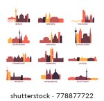 germany cities icons set ... | Shutterstock .eps vector #778877722