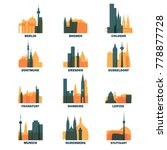 germany cities icons set ... | Shutterstock .eps vector #778877728