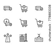 transport icon set collection....   Shutterstock .eps vector #778883338