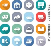 flat vector icon set   delivery ... | Shutterstock .eps vector #778887532