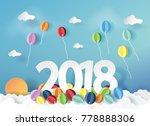 vector illustration. paper art...   Shutterstock .eps vector #778888306