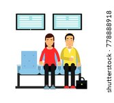 people sitting on chairs and... | Shutterstock .eps vector #778888918