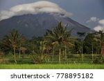 merapi volcano landscape  java  ... | Shutterstock . vector #778895182