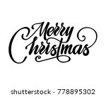 merry christmas text vector on... | Shutterstock .eps vector #778895302