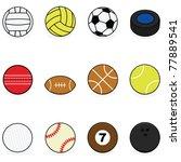 set with vector cartoon balls... | Shutterstock .eps vector #77889541