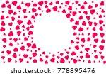 heart pattern background.... | Shutterstock .eps vector #778895476