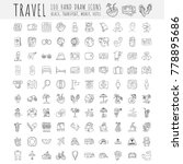 travel hand draw icons. icon... | Shutterstock .eps vector #778895686