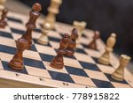 chess on chessboard close up | Shutterstock . vector #778915822