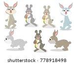 rabbit character vector | Shutterstock .eps vector #778918498