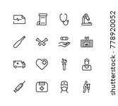 pharmacy icon set. collection...   Shutterstock .eps vector #778920052