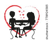 man and woman in love ... | Shutterstock .eps vector #778924585
