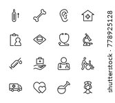 oncology icon set. collection... | Shutterstock .eps vector #778925128