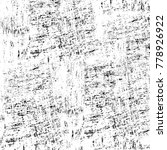 grunge black and white pattern. ... | Shutterstock . vector #778926922