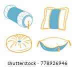 set icons of different shapes... | Shutterstock .eps vector #778926946