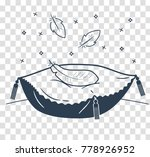 concept of a soft cushion in... | Shutterstock .eps vector #778926952