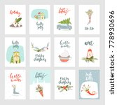 collection of 12 merry...   Shutterstock .eps vector #778930696