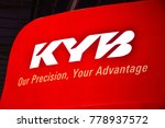 Small photo of MANILA, PH - NOV. 30: KYB signage at Manila Auto Salon on November 30, 2017 in Manila, Philippines. Manila Auto Salon is a annual gathering exhibit for automotive aftermarket industry.