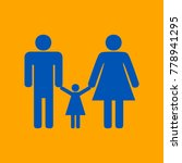 man  woman and kid sign. vector.... | Shutterstock .eps vector #778941295