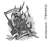 gothic coat of arms with skull  ... | Shutterstock .eps vector #778943932