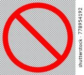 forbidden circle icon isolated... | Shutterstock .eps vector #778954192
