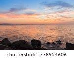 evening sky colorful sunset sky ...   Shutterstock . vector #778954606