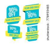 modern folded ribbon banner | Shutterstock .eps vector #778955485