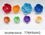 Eight Handmade Colorful Paper...