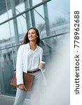 beautiful woman going to work... | Shutterstock . vector #778962688