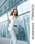 beautiful woman talking on... | Shutterstock . vector #778965625
