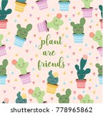 cute cartoon cactus | Shutterstock .eps vector #778965862