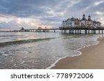 dawn at the pier of sellin at...