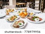 dinner on christmas table | Shutterstock . vector #778979956