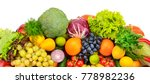 big collection of fruits and...   Shutterstock . vector #778982236
