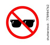no sunglasses sign. symbol ...   Shutterstock .eps vector #778984762