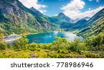 splendid summer scene of...   Shutterstock . vector #778986946
