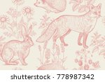 forest animals and plants... | Shutterstock .eps vector #778987342