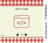 code editor icon | Shutterstock .eps vector #778989862
