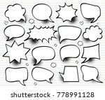 a set of comic speech bubbles... | Shutterstock .eps vector #778991128