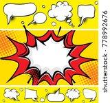 comic speech bubbles and comic...   Shutterstock .eps vector #778992676