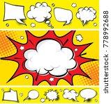 comic speech bubbles and comic... | Shutterstock .eps vector #778992688