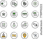 line vector icon set   euro... | Shutterstock .eps vector #778993222