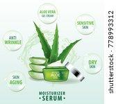 aloe vera collagen vitamin skin ... | Shutterstock .eps vector #778993312