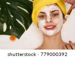 cosmetology  spa  facial ... | Shutterstock . vector #779000392